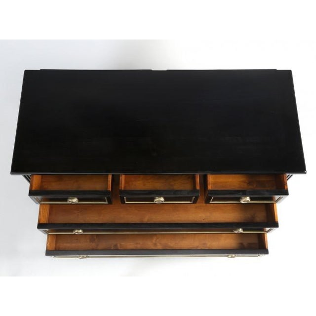French Louis XVI Ebonized Style Commode For Sale In Chicago - Image 6 of 12