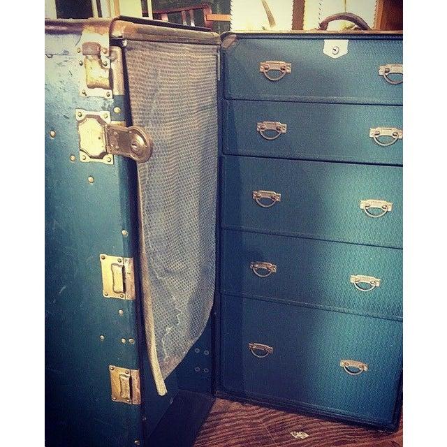 Hartmann Wardrobe Trunk Made in Racine, Wis Green with Black trim Bonus: All interior drawers, hangers with original...