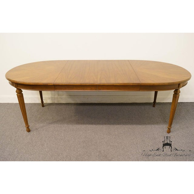 "Wood 20th Century Traditional Drexel Ponte Vecchi Collection 92"" Dining Table For Sale - Image 7 of 11"