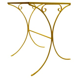 Wrought Iron Patio Side Table Attributed to Salterini For Sale