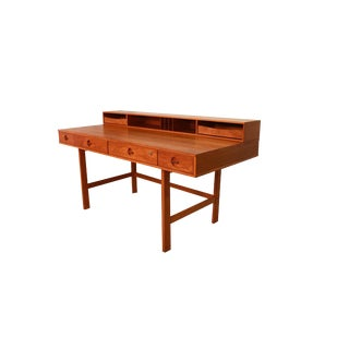 Peter Lovig Nielsen Danish Modern Teak Flip Top Desk For Sale