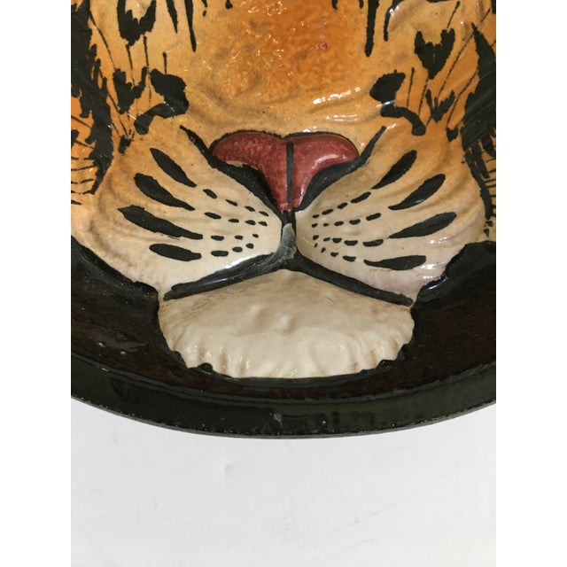 Mid 20th Century Italian Mid-Century Tiger Face Pottery Bowl/Catchall For Sale - Image 9 of 13