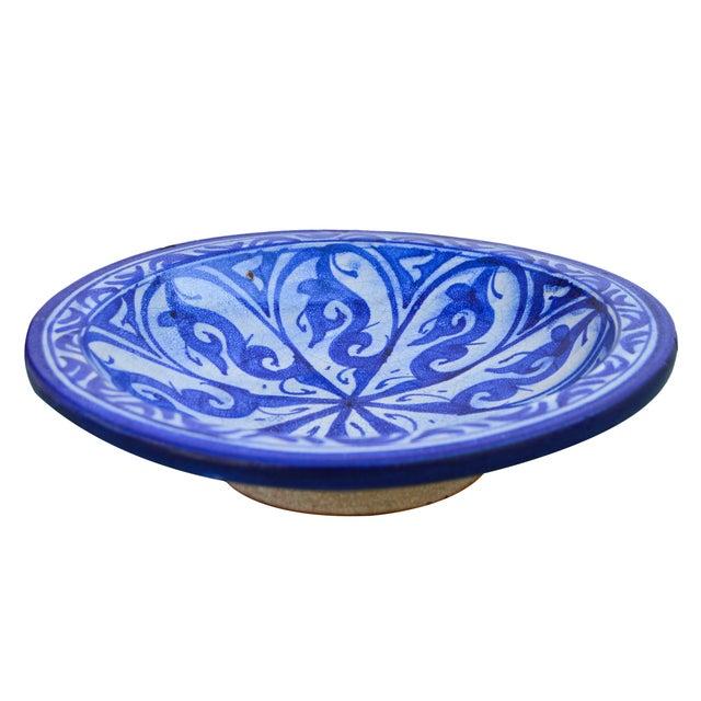 Moorish-Patterned Ceramic Plate For Sale - Image 4 of 7