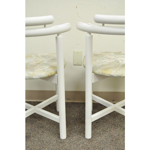 Set 4 Vintage Gangso Mobler Mid Century Danish Modern White Dining Room Chairs - Image 8 of 11