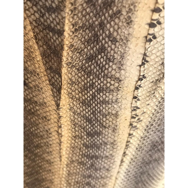 Contemporary 1980s Contemporary Snakeskin Table For Sale - Image 3 of 5