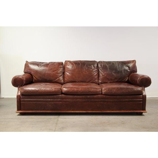 Vintage Ralph Lauren Leather Floating Sofa For Sale - Image 13 of 13