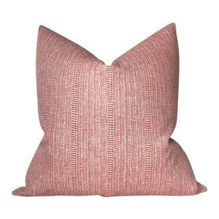 Saqqara Linen Pillow Cover in Guava For Sale