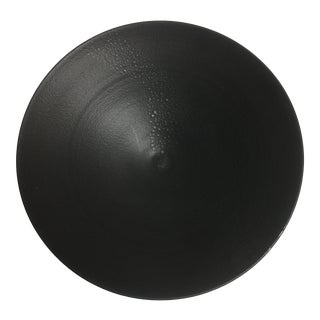 Late 20th Century Black Bowl With Matte Patina For Sale
