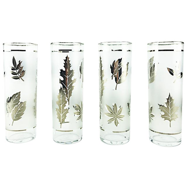 Libbey Silver Leaves High Balls - Set of 4 - Image 1 of 4