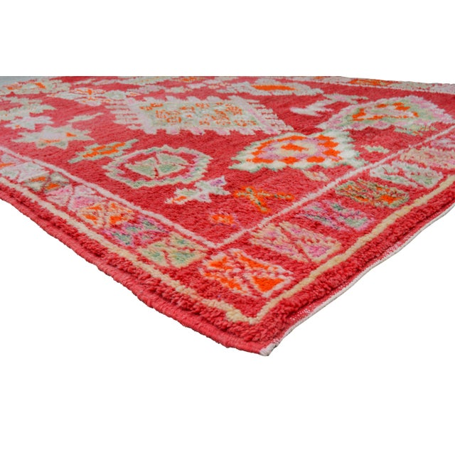 One-of-a-kind Moroccan rug handwoven of soft organic wool by the Berbers of the Atlas Mountains.