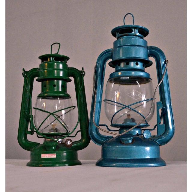 Winged Wheel Railroad Hanging Lanterns - A Pair - Image 2 of 7
