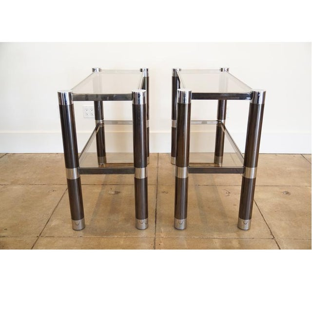 Metal 1970s Karl Springer Etageres - a Pair For Sale - Image 7 of 10