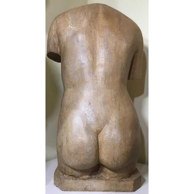 Marble Vintage Marble Female Torso Statue For Sale - Image 7 of 11