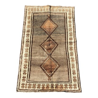 "Vintage Persian Gabbeh Wool Rug - 3'7""x6'2"""