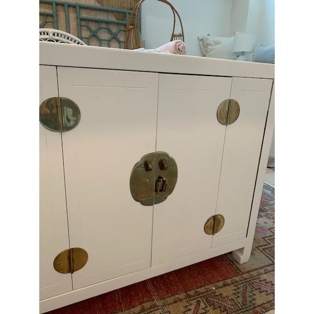 Metal Mid-Century Modern 1960s Henredon Ming Console For Sale - Image 7 of 13