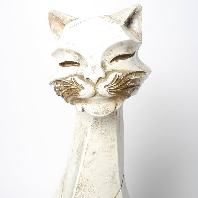 Modern 1960's Cat Figurine by Universal Statuary Corp. For Sale - Image 3 of 10