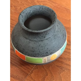 2003 Sergio Naduville Raku Art Pottery Vase, Signed/Dated Preview