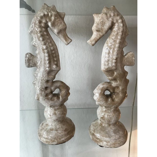 Ceramic Seahorses - a Pair For Sale - Image 4 of 4