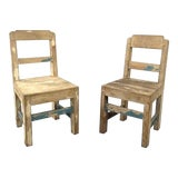 Image of 1940s Vintage American Craft Children's Side Chairs- a Pair For Sale