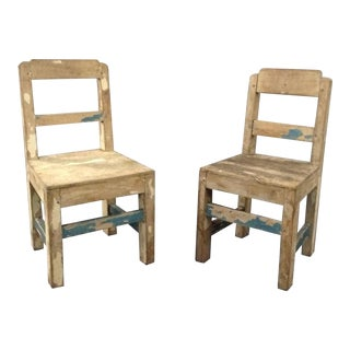 1940s Vintage American Craft Children's Side Chairs- a Pair For Sale
