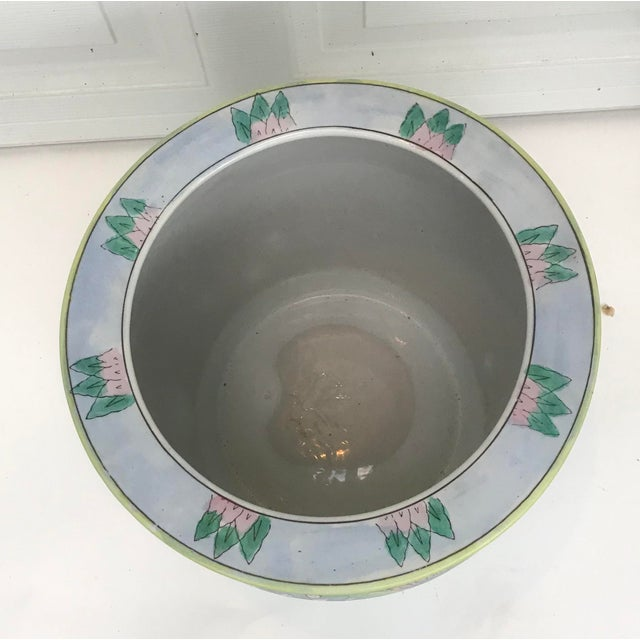 Mid 20th Century Large Oriental Asian Chinese Planter Jardiniere For Sale - Image 5 of 8