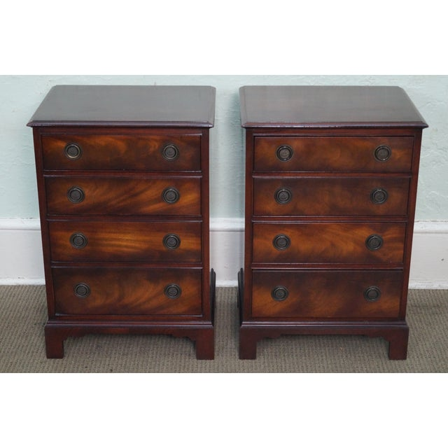 1940s Chippendale Mahogany Nightstands - Pair - Image 6 of 10