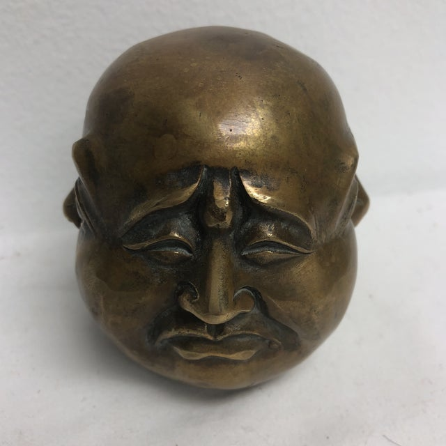 Asian Brass Four Face Buddha For Sale - Image 3 of 6