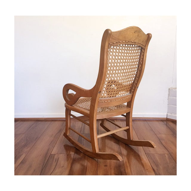 Childs Rocking Chair With Caned Back - Image 4 of 6