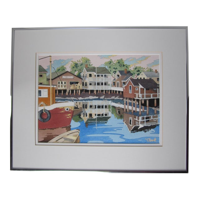 New England Watercolor Painting - Image 1 of 8