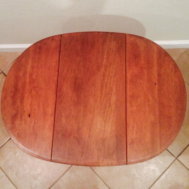 Antique Gate Leg Side Table - Image 4 of 8