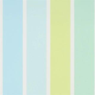 Children's Fun Fair Stripe Aqua Wallpaper