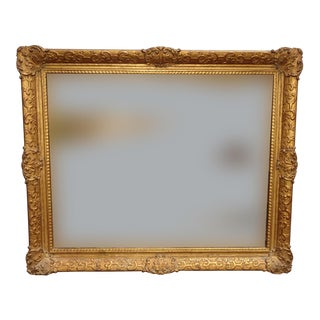Vintage French Country Provincial Louis XVI Gold Ornate Picture Frame For Sale