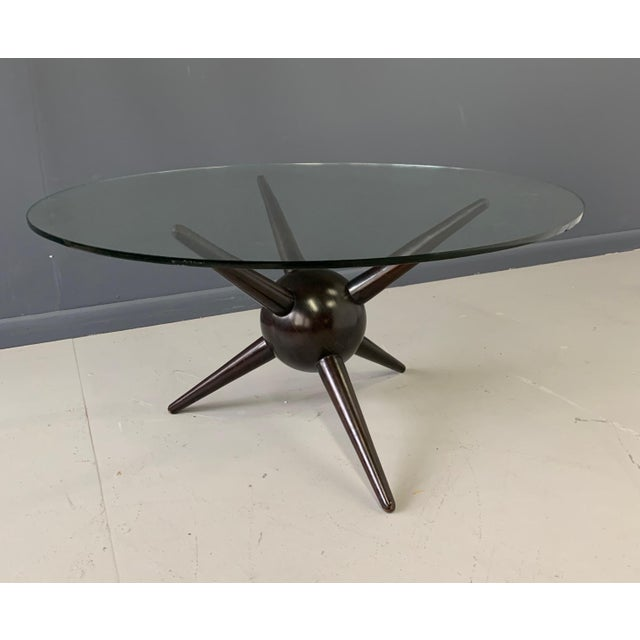 Wood Gio Ponti Attributed Spike Cocktail Table For Sale - Image 7 of 9