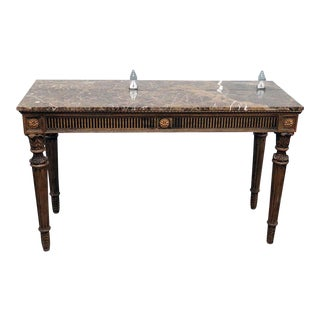 Neoclassical Style Marble Top Console For Sale