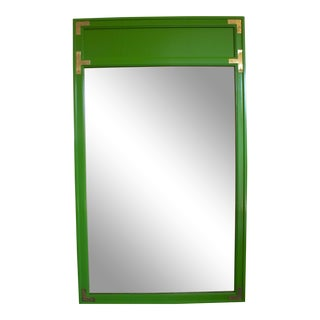 1970s Campaign Drexel Green Mirror For Sale