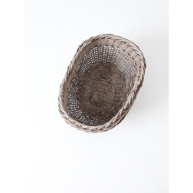 Rustic Antique Wicker Basket For Sale - Image 3 of 12