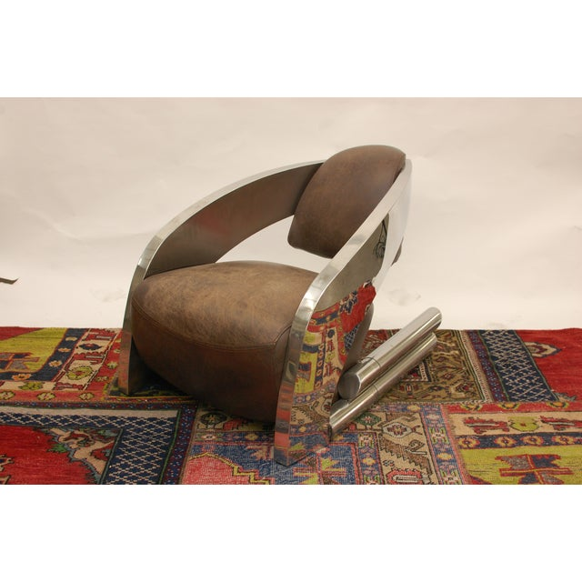 Timothy Oulton Aviator Style Chairs - Pair - Image 7 of 8