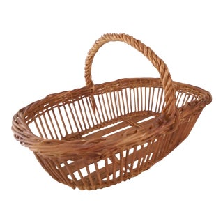 1950s French Garden Basket For Sale