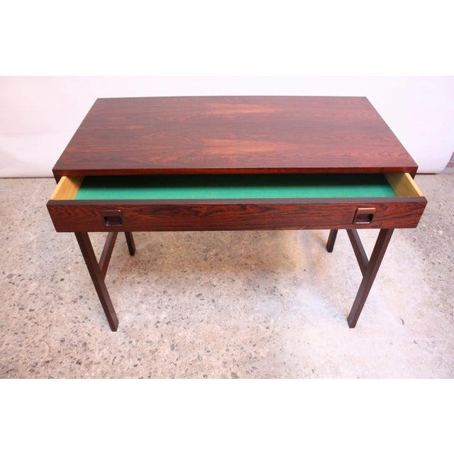 1960s Diminutive Danish Modern Rosewood Desk by EJM Skive For Sale - Image 5 of 12