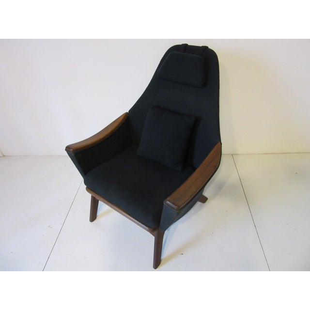 Black 1960s Adrian Pearsall Upholstered Lounge Chair For Sale - Image 8 of 10