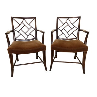Dessin Fournir Chinese Chippendale Armchairs - A Pair