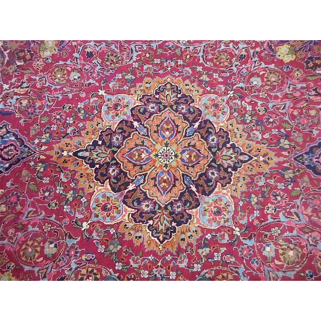 Semi Antique Persian Medallion Rug - 9' x 12' - Image 6 of 10