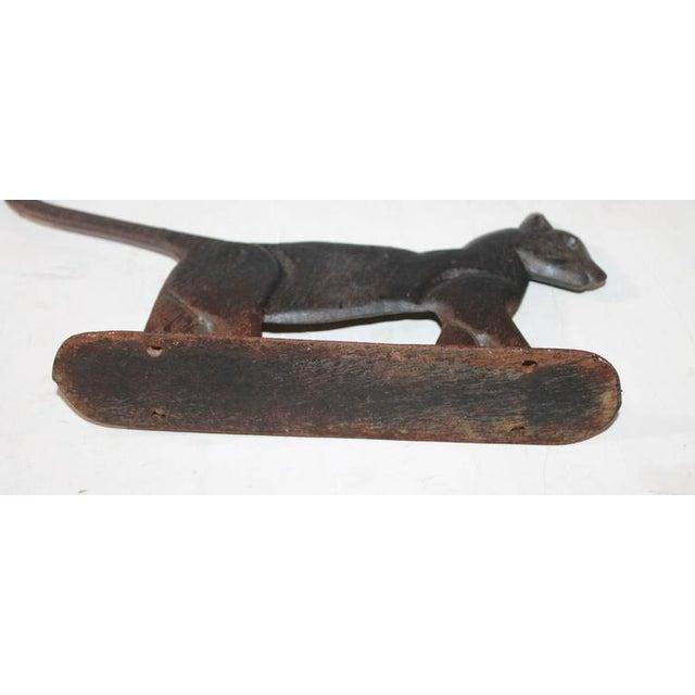 19th Century Cast Iron Cat Boot Scraper - Image 3 of 7