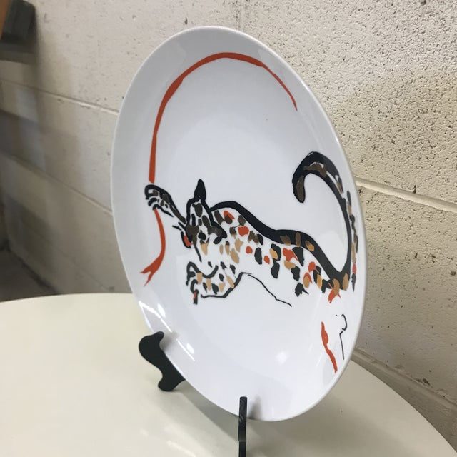 Contemporary New Arcadia Studio Cheetah Plate - Dinner Size For Sale - Image 3 of 10