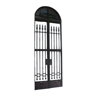 Iron Arched Double Front Door For Sale