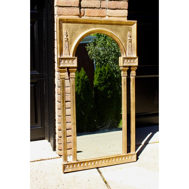 "Mid 20th Century Vintage 51"" Antique Gold Gilt French Neoclassical Obelisk Mirror For Sale - Image 5 of 5"
