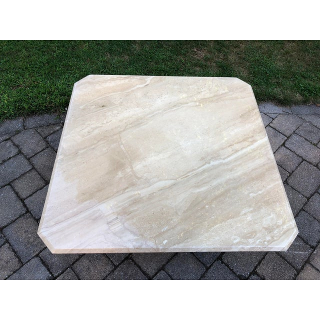 Stone Art Deco Italian Travertine Coffee Table For Sale - Image 7 of 13