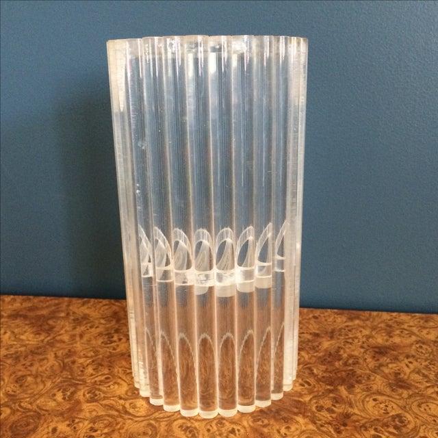 Van Horn Hayward Lucite Candle Holder or Vase - Image 4 of 6
