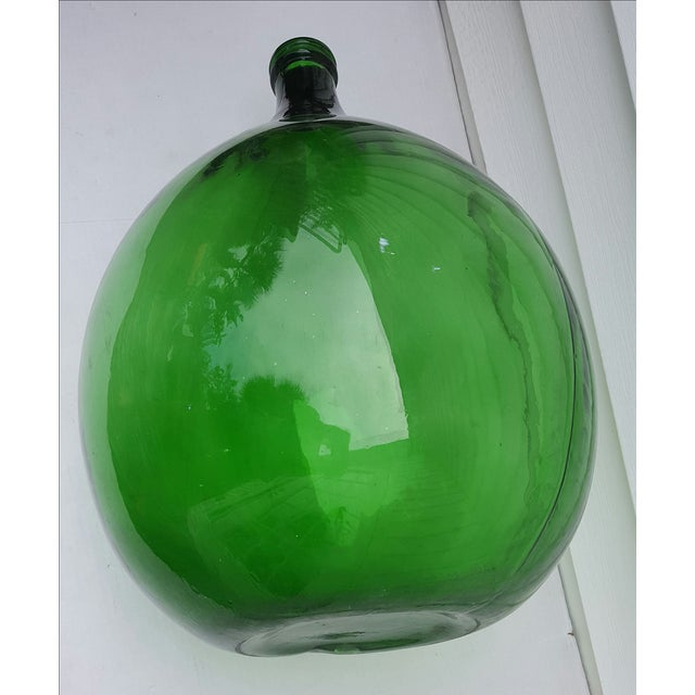 French Green Demijohn Wine Bottle - Image 3 of 3