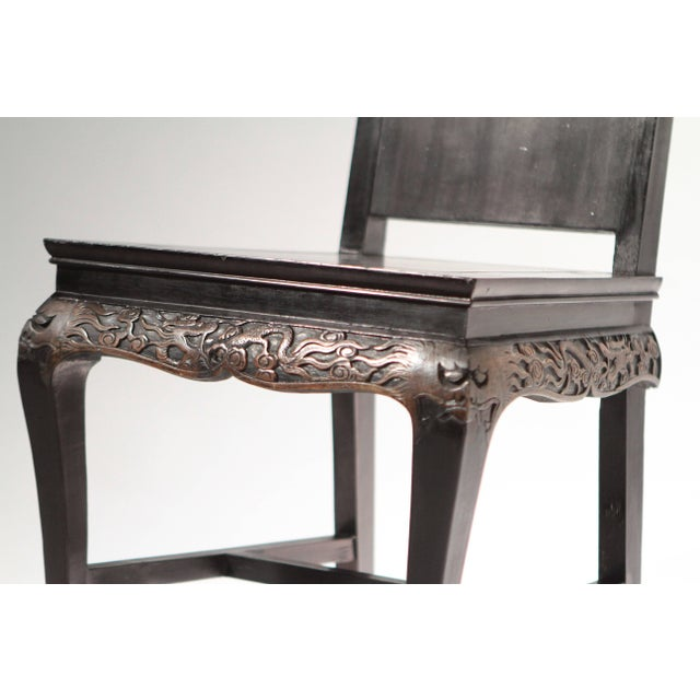 Wood French Chinoiserie Neoclassical Chair, 1960s For Sale - Image 7 of 9